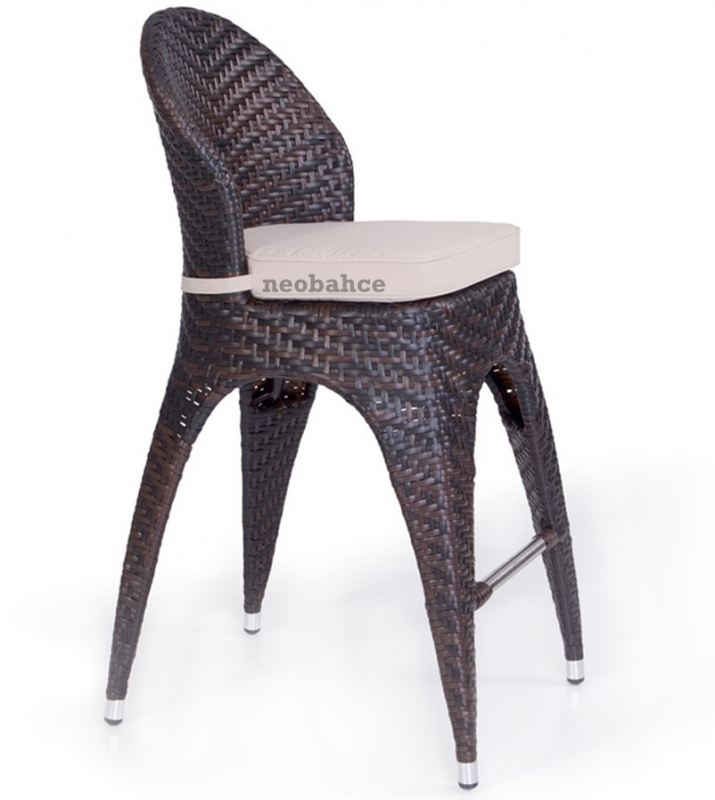 Halley Rattan Bar Chair Bistro Chair