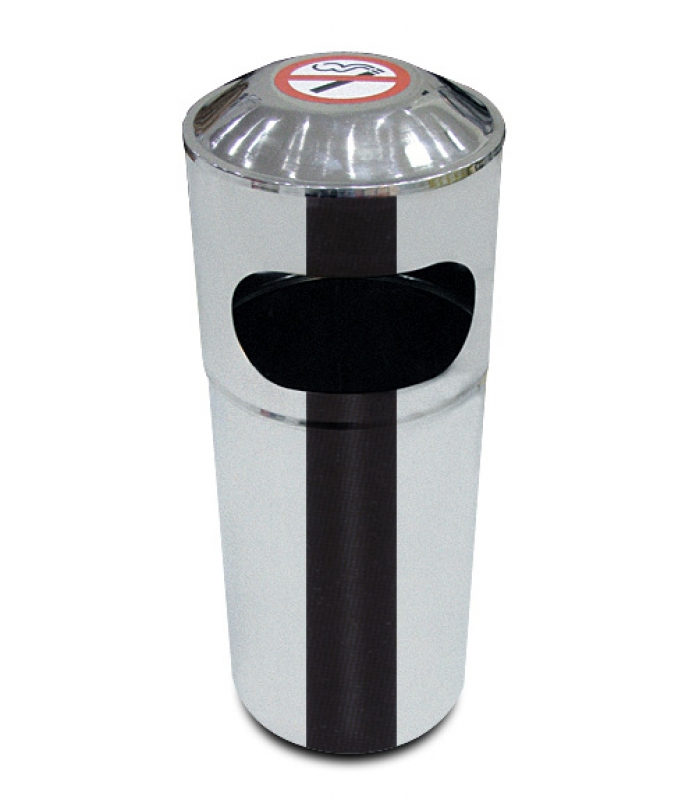 NEO-120 Stainless Mall Trash Can